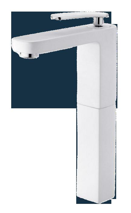 Monomando lavabo despertar blanco de 240 mm - Altura de lavabo ...